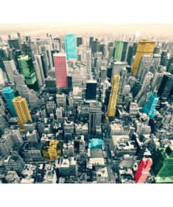 Fotobehang - Kleurrijke reflecties van New York-2
