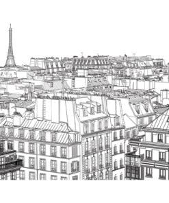 Fotobehang - Schetsboek Parijse's-2