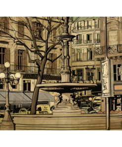 Fotobehang - Parisian fountain-2