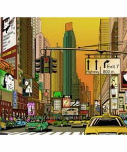 Fotobehang - Bruisende stad - NY-2