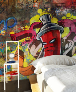 Fotobehang - Graffiti monster-1