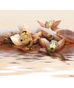 Fotobehang - strand - waterlelies-2