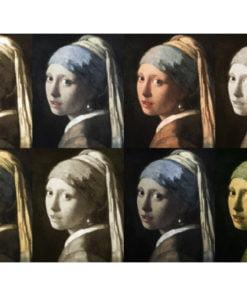 Fotobehang - Meisje met de parel (Pop-art)-2