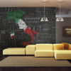 Fotobehang - Text map of Italy-1