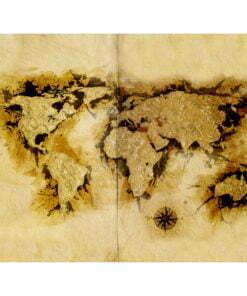 Fotobehang - Kaart van de wereld gold-diggers '-2