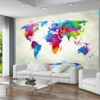 Fotobehang - The map of happiness-1