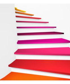 Fotobehang - Colorful stairs-2