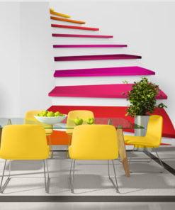 Fotobehang - Colorful stairs-1