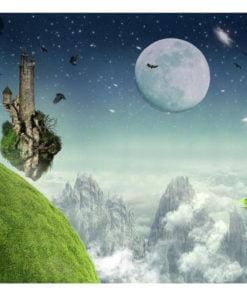 Fotobehang - Flight over the mountains-2