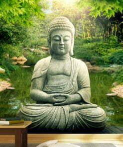 Fotobehang - Buddha's garden-1