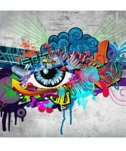 Fotobehang - Graffiti eye-2