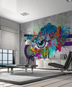 Fotobehang - Graffiti eye-1