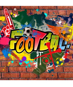 Fotobehang - Football fans!-2