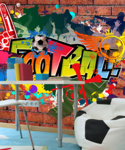 Fotobehang - Football fans!-1
