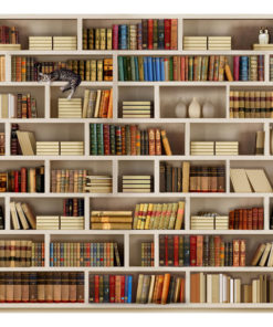 Fotobehang - Home library-2