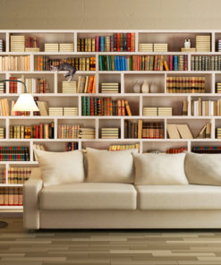 Fotobehang - Home library-1