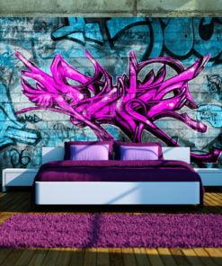 Fotobehang - Anonymous graffiti-1