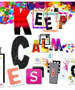 Fotobehang - Keep Calm and Design-2