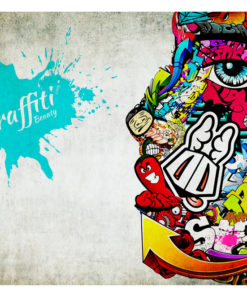 Fotobehang - Graffiti beauty-2