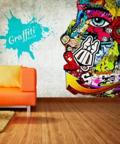 Fotobehang - Graffiti beauty-1