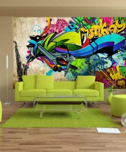 Fotobehang - Funky - graffiti-1