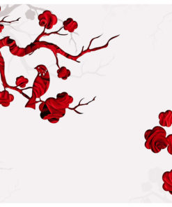 Fotobehang - Red bush-2