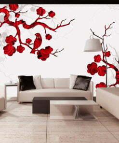 Fotobehang - Red bush-1