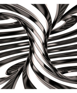 Fotobehang - Black and white swirl-2
