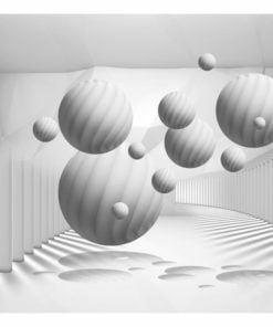 Fotobehang - Balls in White-2
