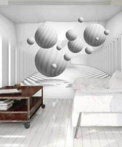 Fotobehang - Balls in White-1