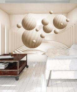 Fotobehang - Beige Balls-1