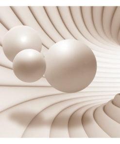 Fotobehang - Balls in the Tunnel-2