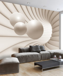 Fotobehang - Balls in the Tunnel-1