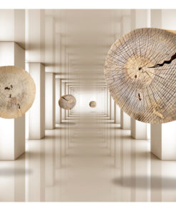 Fotobehang - Flying Discs of Wood-2