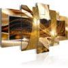 Schilderij - Golden Lava-1