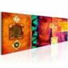 Schilderij - Orange Abstraction-1