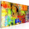 Schilderij - Colourful Abstraction (1 Part) Narrow-1