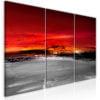 Schilderij - Crimson Landscape (3 Parts)-1