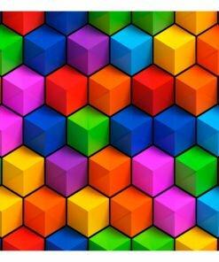 Fotobehang - Colorful Geometric Boxes-2