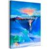 Schilderij - Winter Landscape (1 Part) Vertical-1