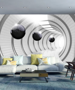 Fotobehang - Futuristic Tunnel-1