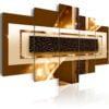 Schilderij - Golden Streak-1