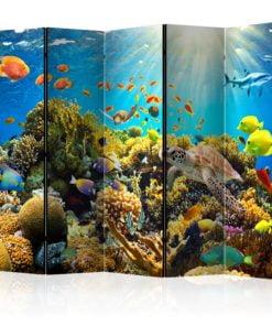 Vouwscherm - Underwater Land II [Room Dividers]-1