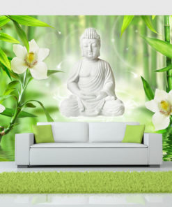 Fotobehang - Buddha and nature-1