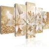 Schilderij - Golden Bouquet-1