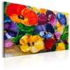 Schilderij - Spring Pansies-1