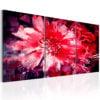Schilderij - Crimson Flowers-1