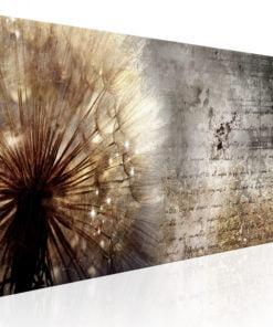 Schilderij - Dandelion on Concrete-1