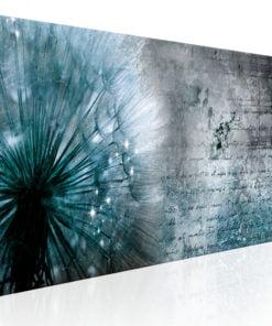 Schilderij - Blue Dandelion-1
