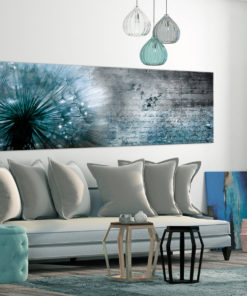Schilderij - Blue Dandelion-2